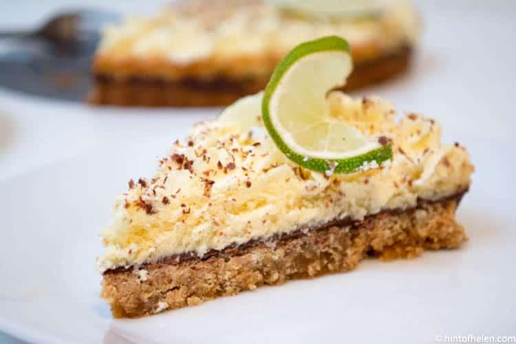 lime chocolate pie recipe | Hint of Helen