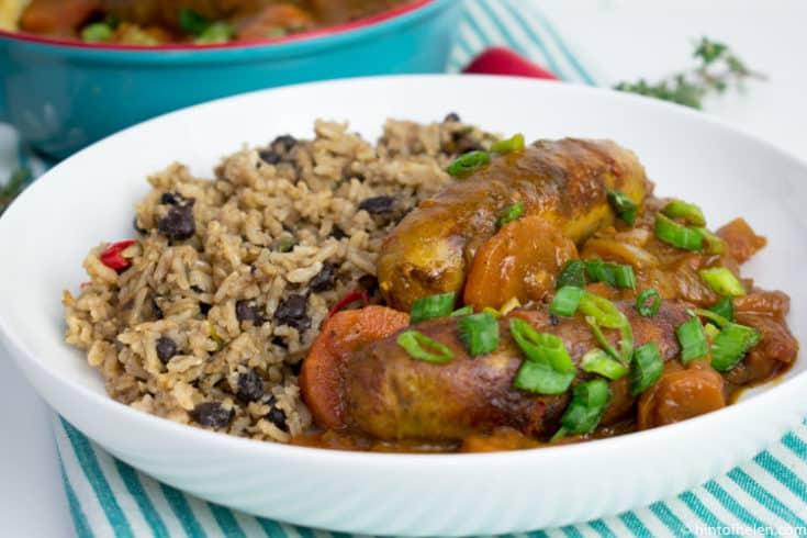 Caribbean Sausage Stew | Hint of Helen
