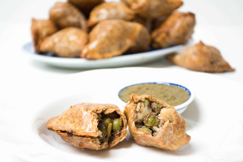 wholegrain brown baked vegetable samosas   Hint of helen
