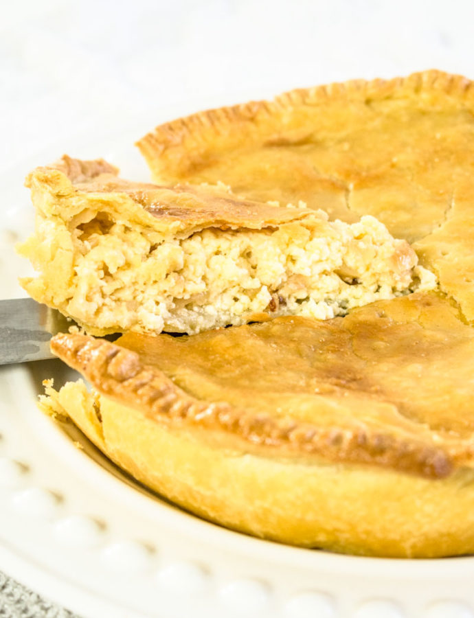 Lancashire Cheese and Onion Pie