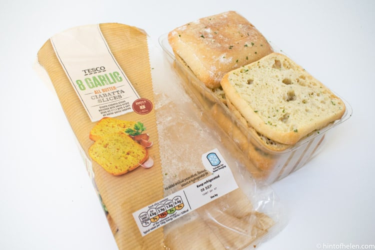Tesco Garlic Ciabatta Slice 8 Pack, 360 G