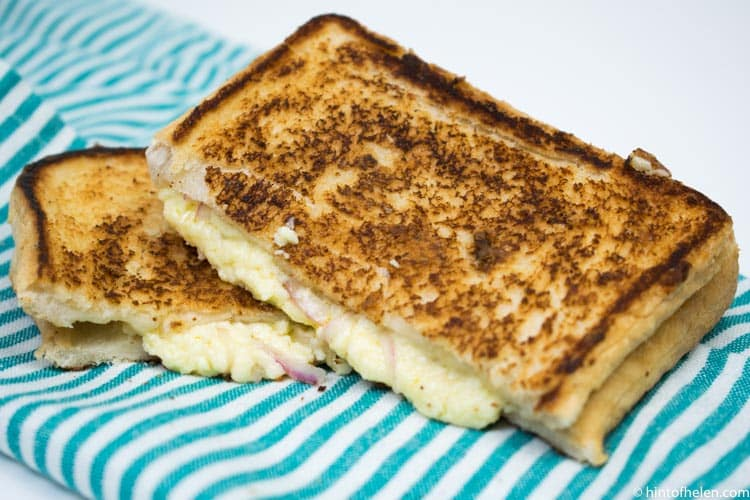 Lancashire cheese and onion toastie recipe