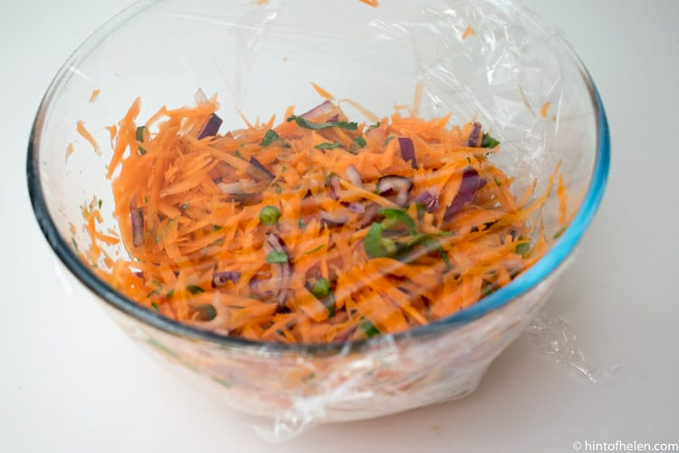 Carrot Red Onion Chilli Salad | Hint of Helen