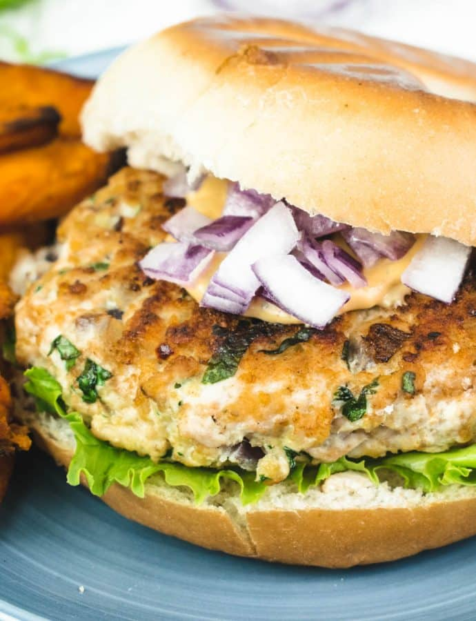 Garlic & Coriander Turkey Burgers