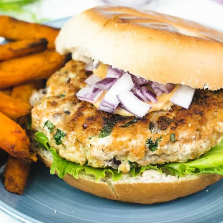Garlic & Coriander Turkey Burgers