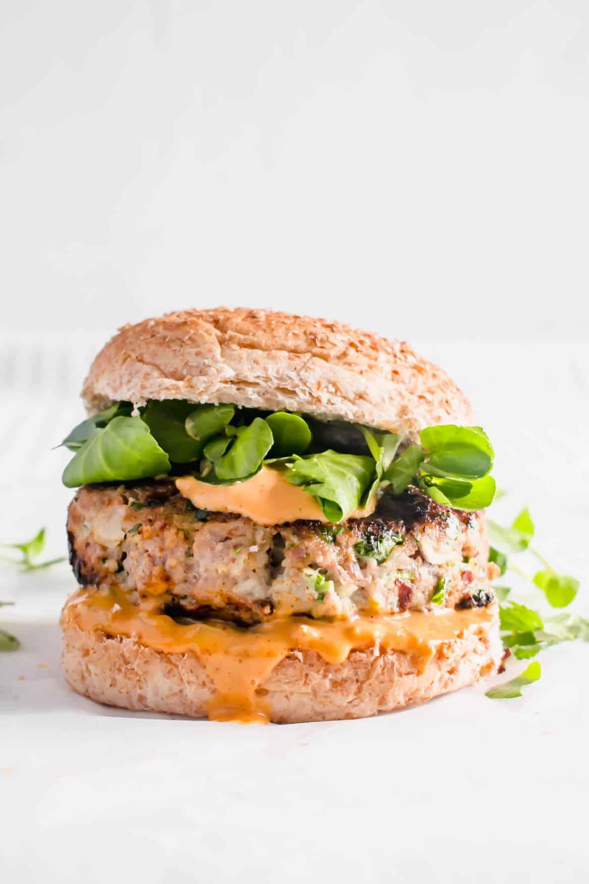 Healthy Turkey Burgers Easy Recipe Hint Of Helen