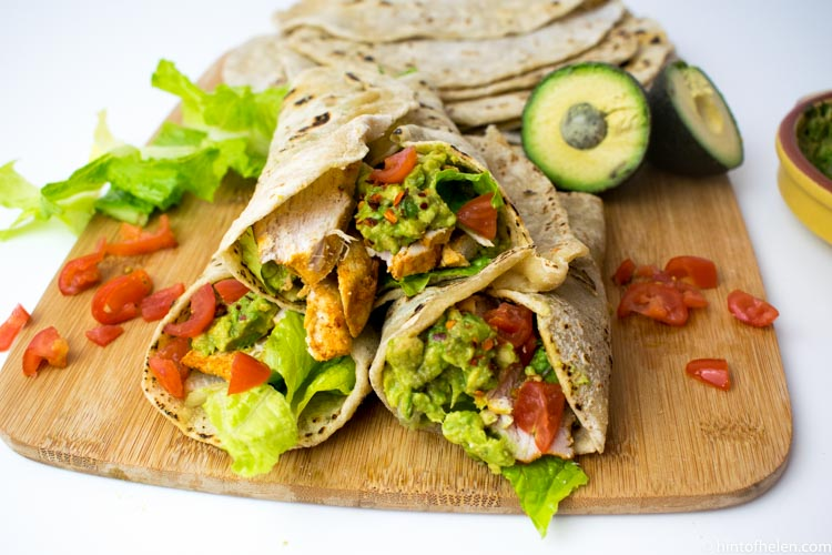 Healthy Chicken and Avocado Wraps