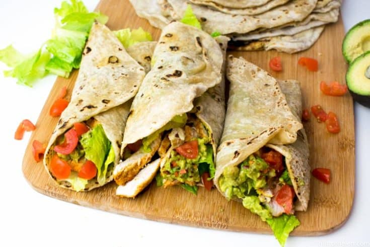 Healthy Chicken & Avocado Wraps
