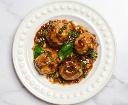 Turkey Meatballs with Basil & Chilli
