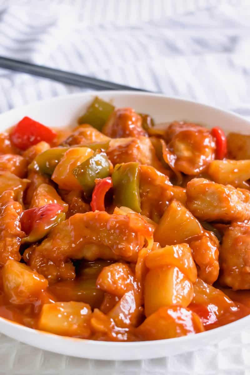 Sweet & Sour Chicken Recipe | Hint of Helen
