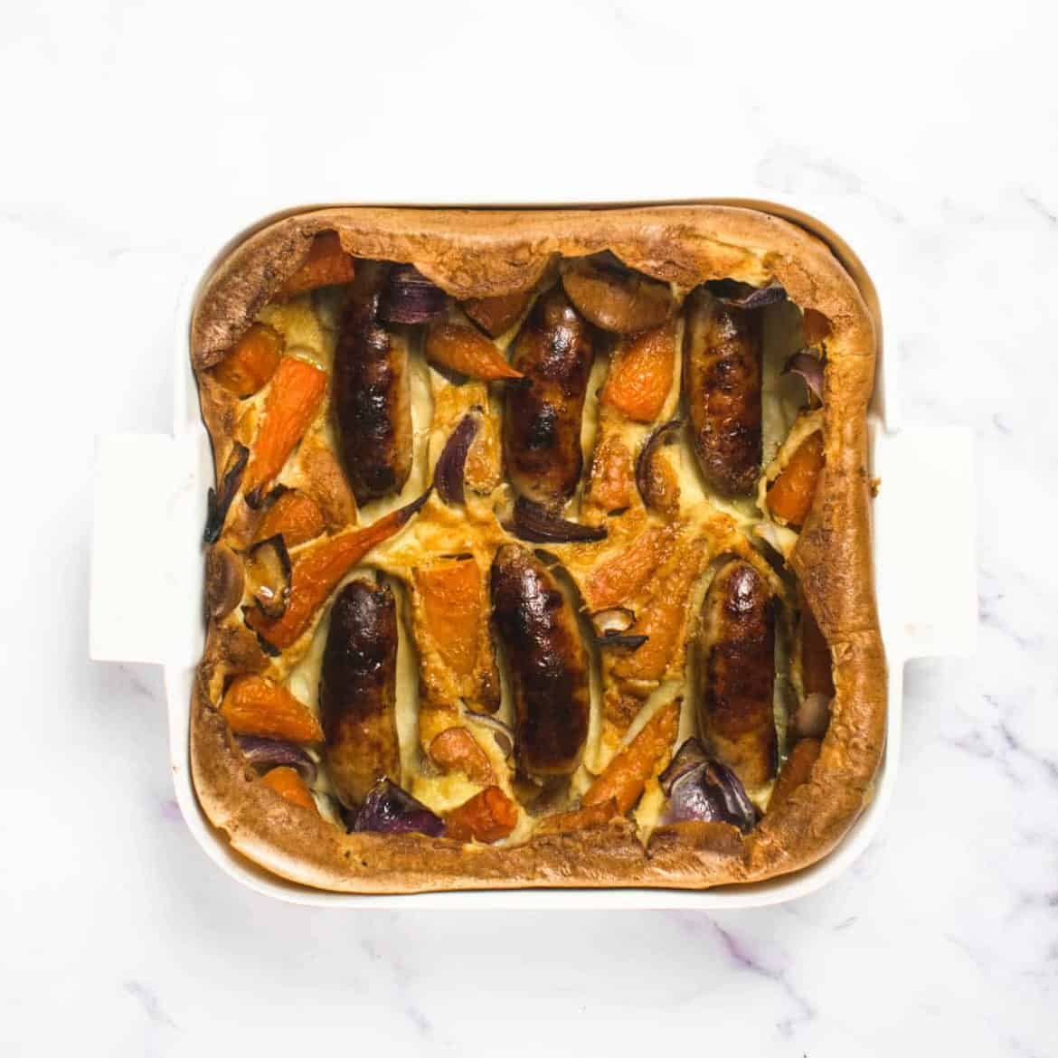 Toad in the hole tray bake