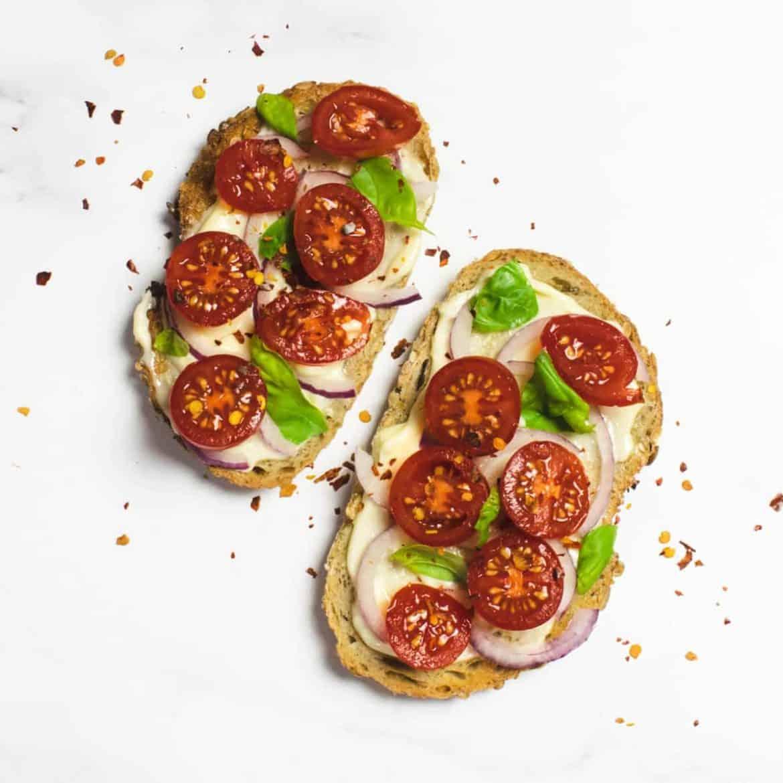 Caprese Tomato Toast