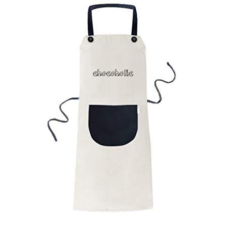 Chocoholic Baking Apron in White & Black