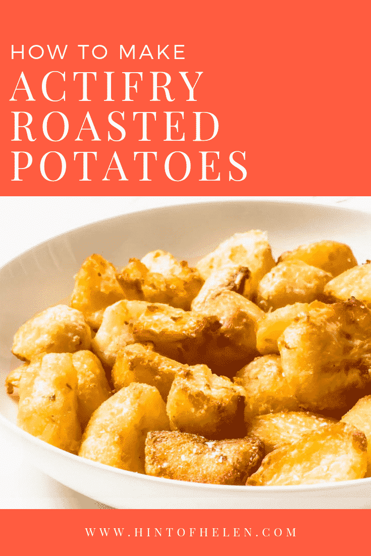 How to make roasted potatoes in your air fryer or Actifry!