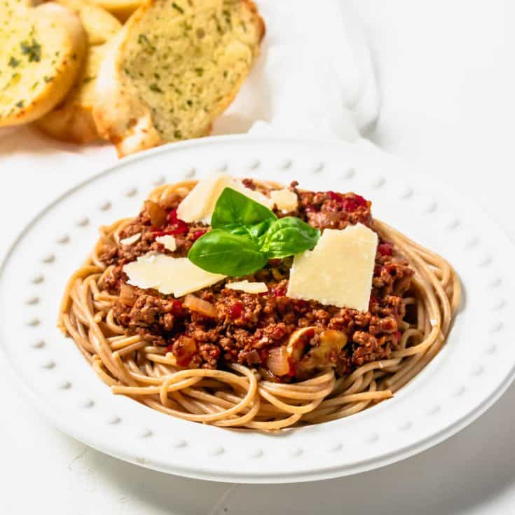 Turkey Bolognese Recipe Healthy Italian Spaghetti Hint Of Helen