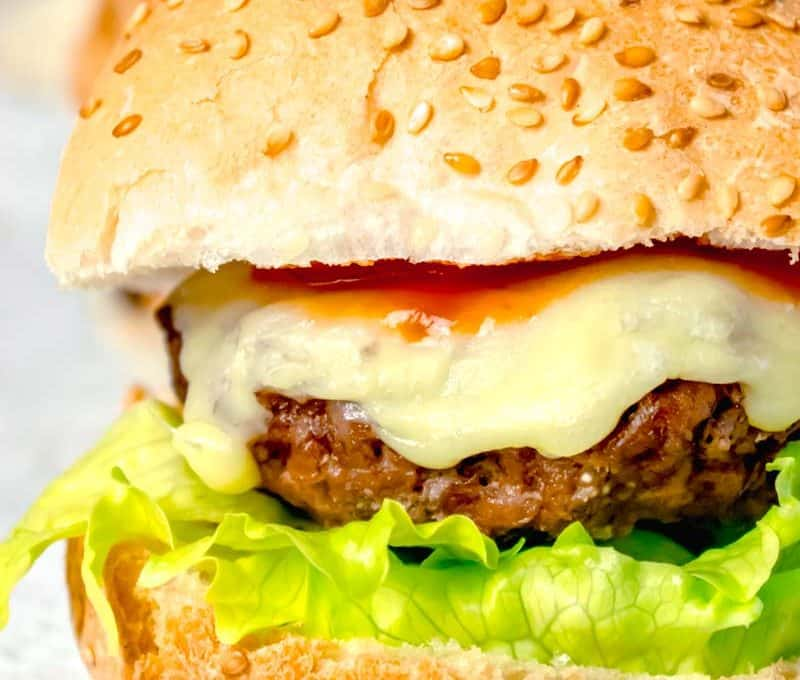 Actifry Cheese Burgers