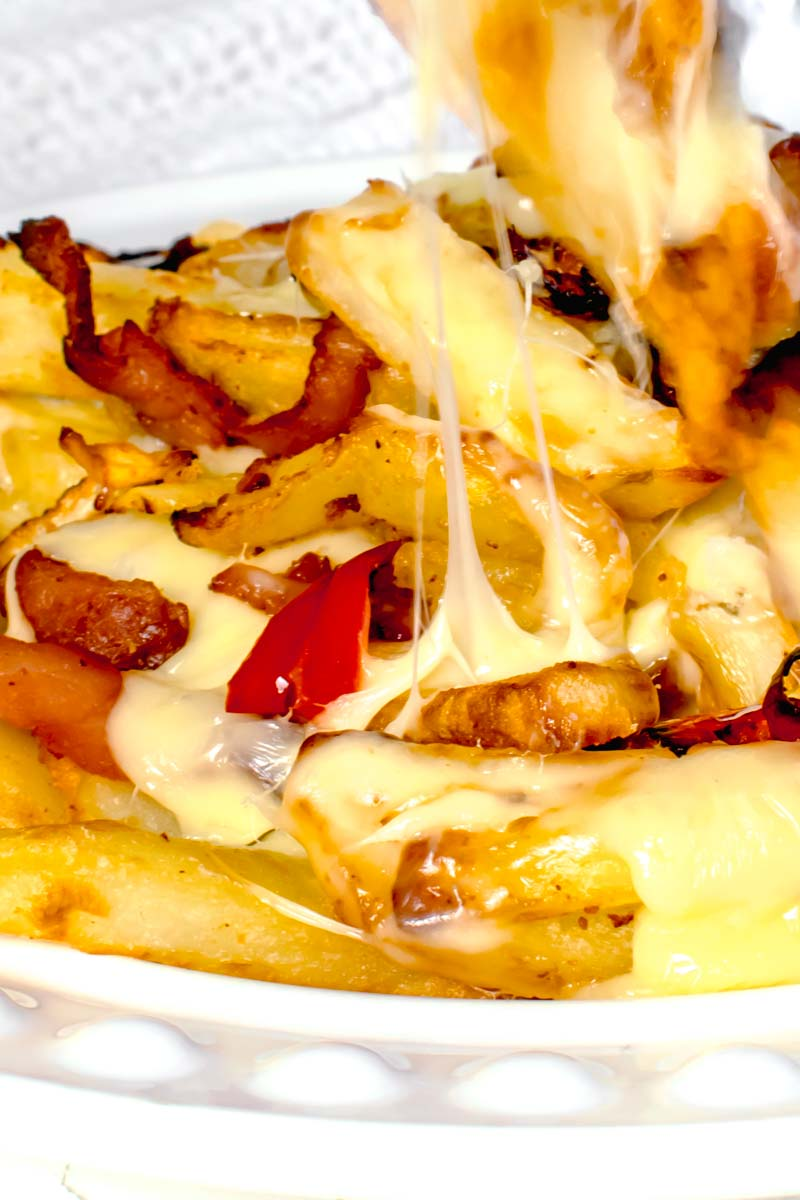 Actifry Loaded Fries Recipe | Hint Of Helen