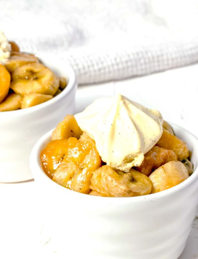 Slow Cooker Butterscotch Bananas