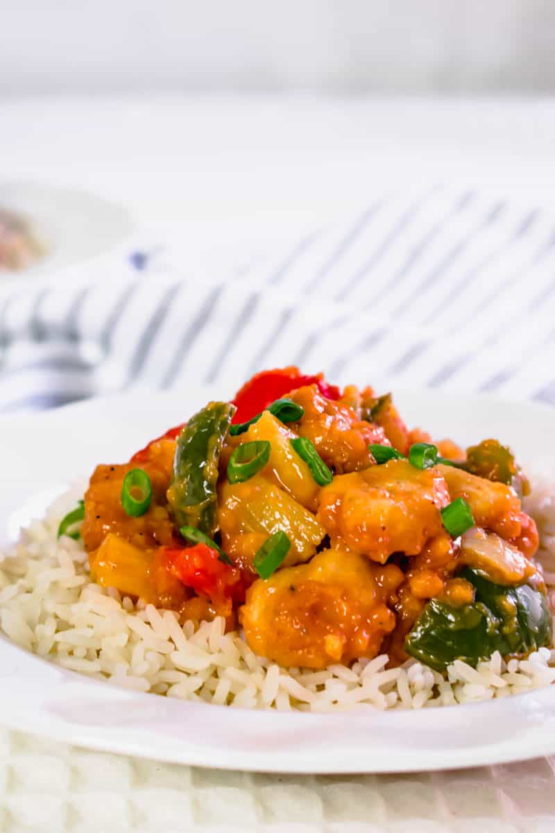 Actifry Sweet Sour Chicken | Hint of Helen