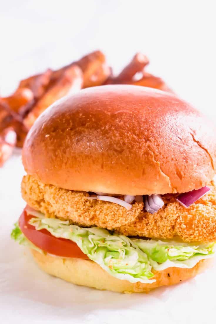 Actifry Chicken Burgers | Hint of Helen
