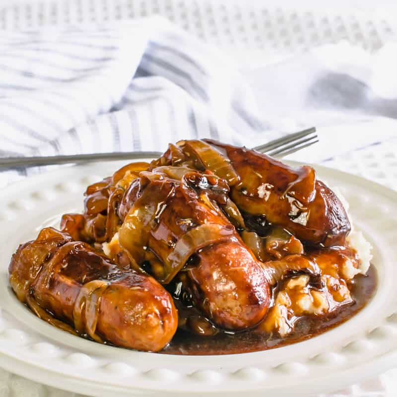 Actifry Sausages and Onion Gravy Recipe
