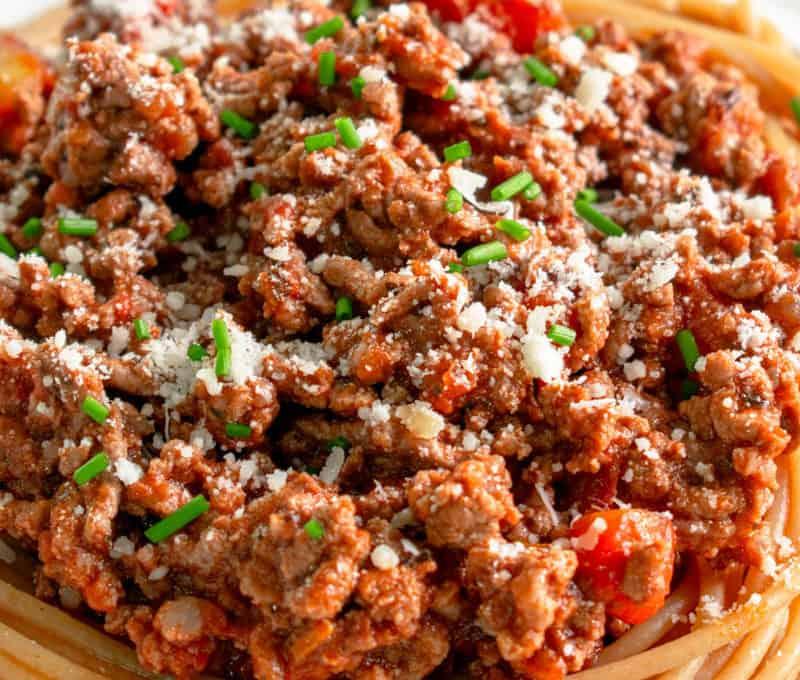 Low FODMAP Spaghetti Bolognese