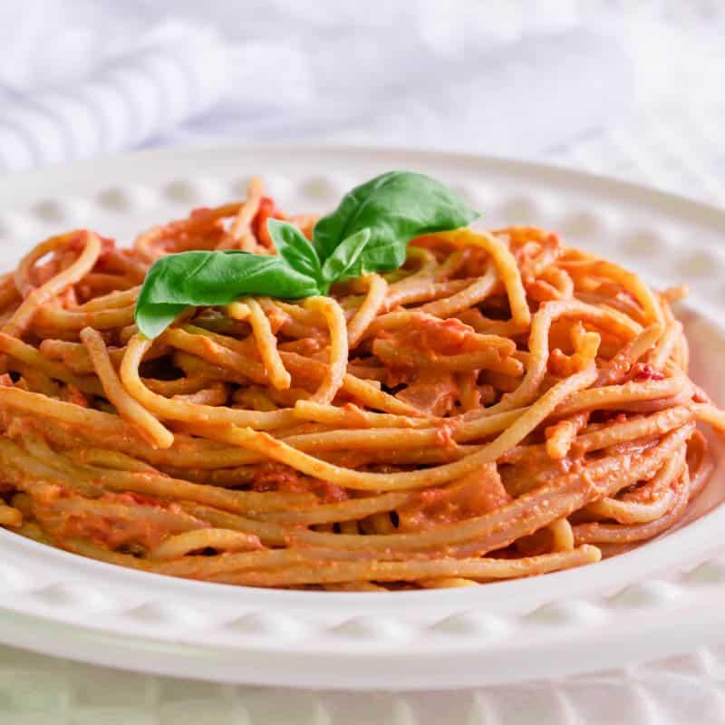 Creamy Tomato Quark Spaghetti Syn Free Hint Of Helen