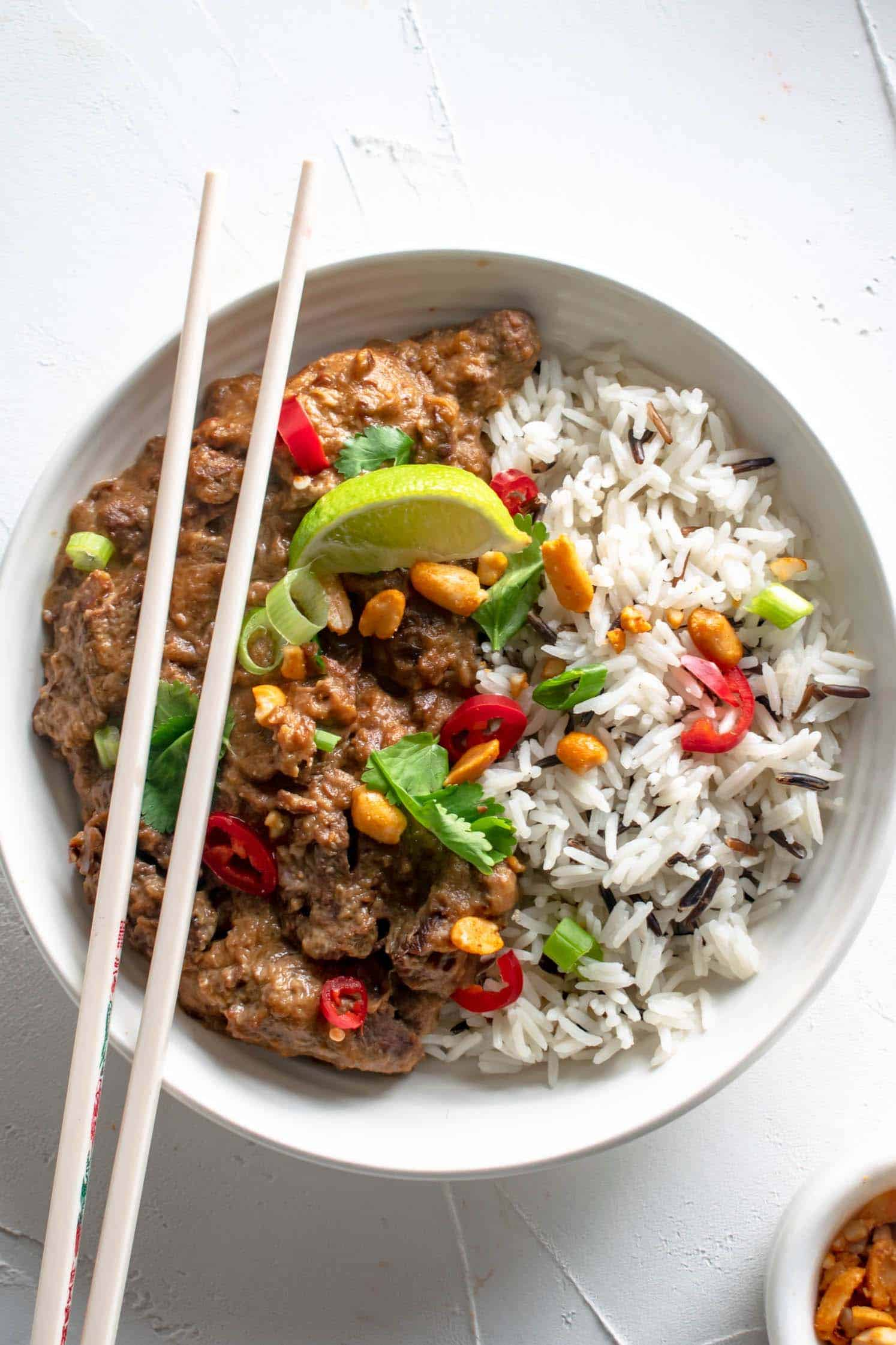 Slow Cooker Satay Beef Recipe