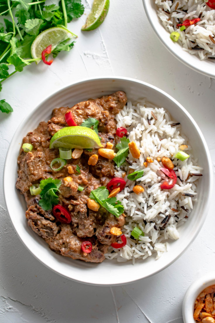 Slow Cooker Satay Steak