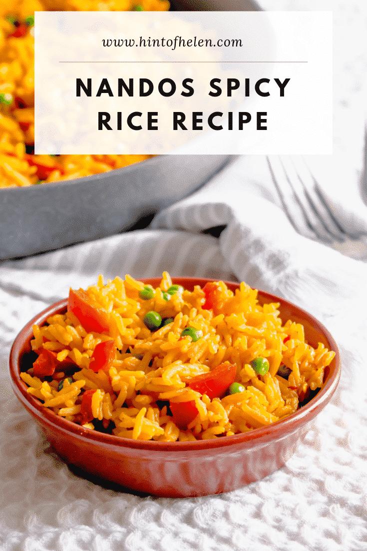 Nando S Spicy Rice Recipe Takeaway Hint Of Helen