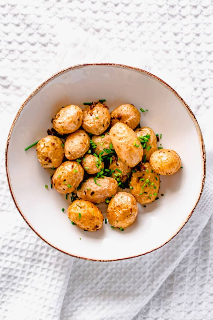 Actifry Garlic Chive Potatoes Recipe