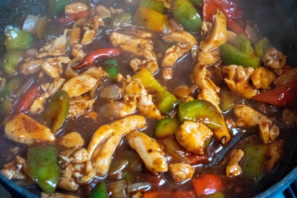 chilli chicken cooking