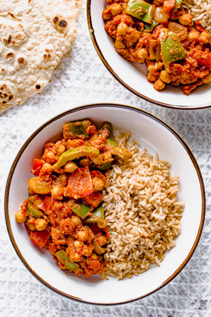 Chickpea Balti curry