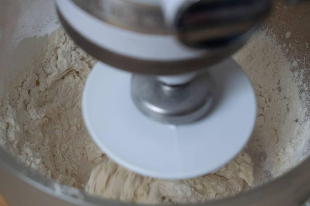 mixing dough balls
