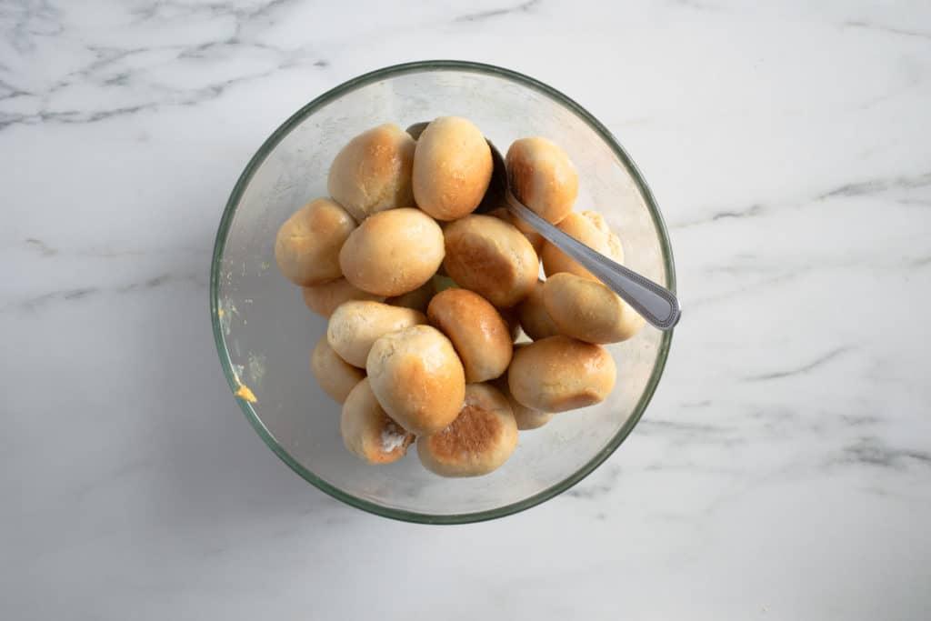 dough balls with garlic butter