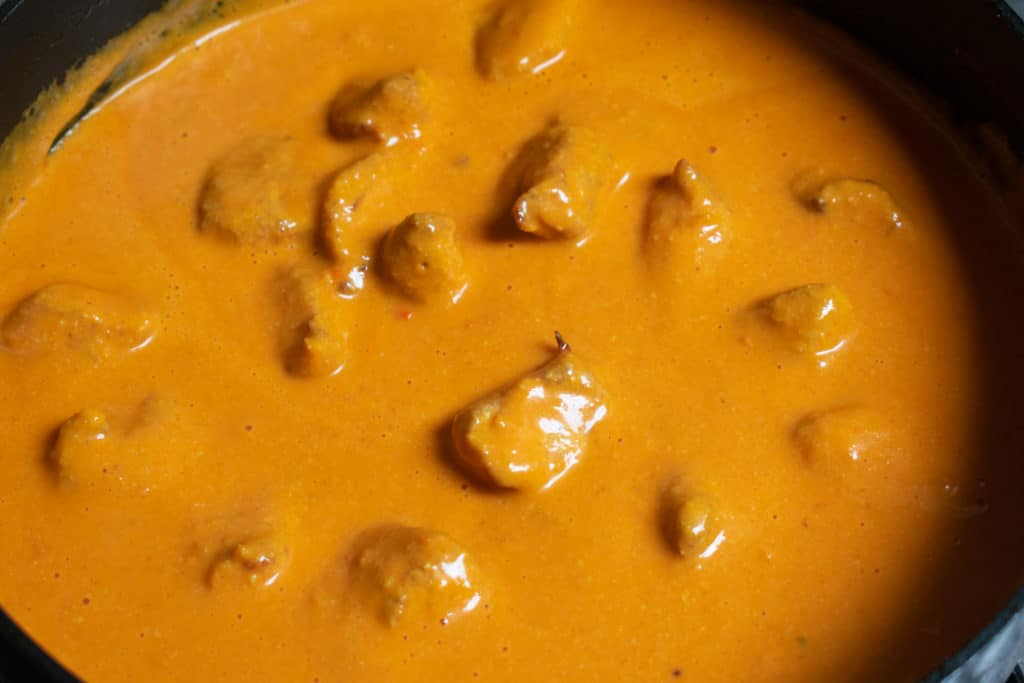 cooking tikka masala sauce