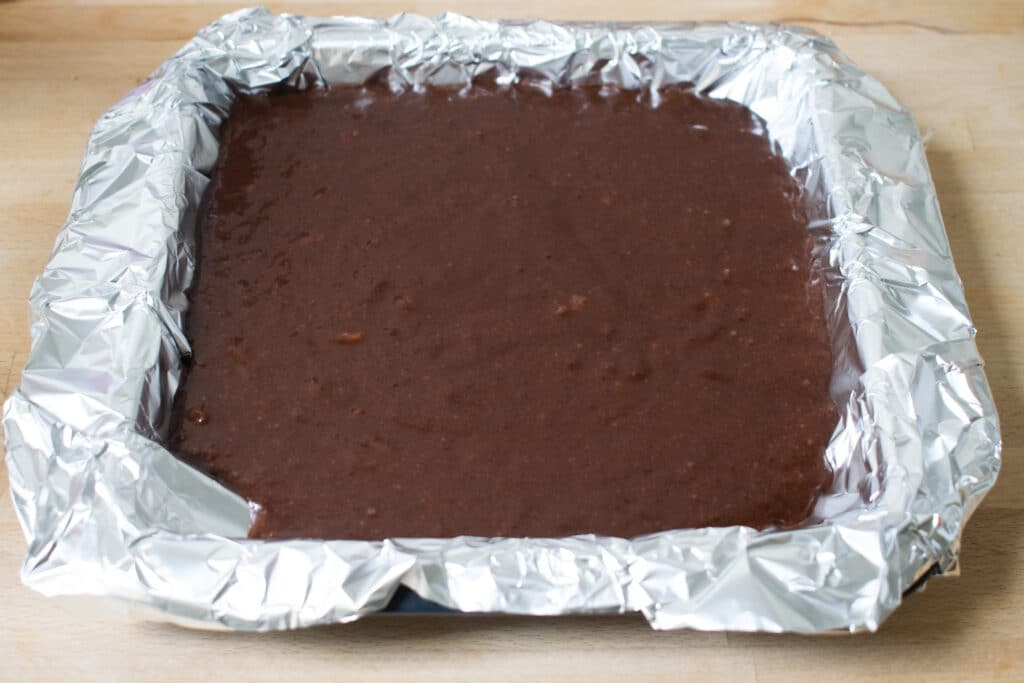 brownie in tray