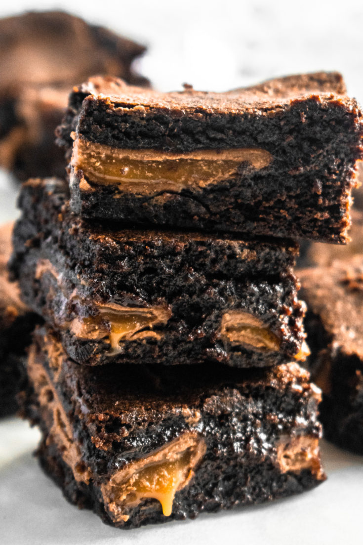 rich caramel chocolate brownies