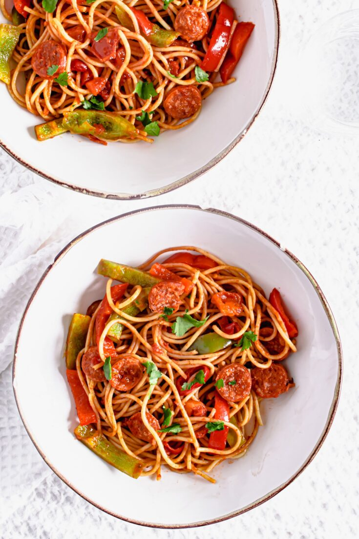 Actifry Chorizo and Peppers Recipe