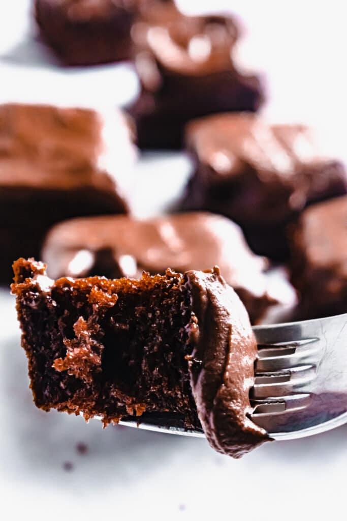 chocolate fudge cake traybake